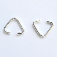 20 Silver Plated 10mm Triangle Clamp Bails